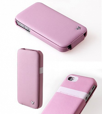 Чехол Zenus Genuine Leather для Apple Iphone 4 (Розовый) - ITMag