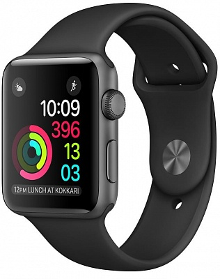 Apple Watch Series 1 38mm Space Gray Aluminum Case with Black Sport Band (MP022) Open Box - ITMag