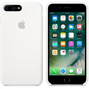 Apple iPhone 7 Plus Silicone Case - White MMQT2 - ITMag
