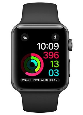 Apple Watch Series 2 42mm Space Gray Aluminum Case with Black Sport Band (MP062) - ITMag