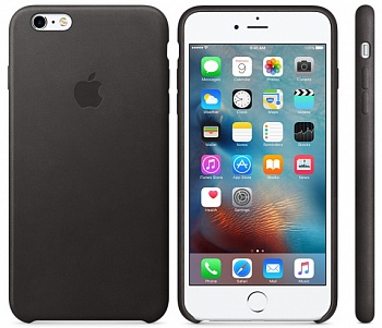 Apple iPhone 6s Plus Leather Case - Black MKXF2 - ITMag