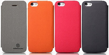Чехол Nillkin для Apple iPhone 5/5S New Leather Case--Stylish Color Leather (черный) - ITMag
