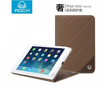 Чехол (книжка) ROCK Luxurious Series для Apple IPAD mini (RETINA) (Кофейный / Coffee) - ITMag