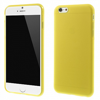 Антискользящий TPU чехол EGGO для iPhone 6 Plus/6S Plus - Yellow - ITMag