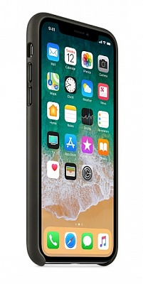 Apple iPhone X Leather Case - Charcoal Gray (MQTF2) - ITMag