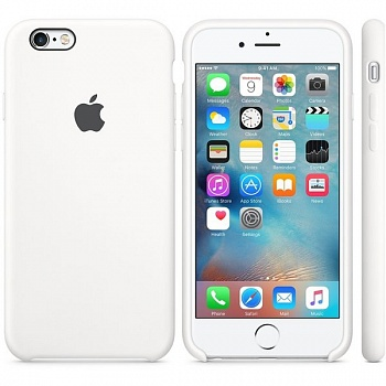 Apple iPhone 6s Silicone Case - White MKY12 - ITMag
