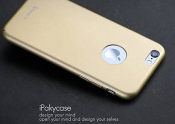 "Чехол iPaky Metal Plating Series для Apple iPhone 6/6s (4.7"") (Золотой) - ITMag"