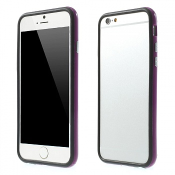 TPU бампер EGGO для iPhone 6/6S - Black / Purple - ITMag