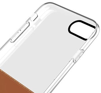 Чехол Baseus Half to Half Case For iPhone7 Brown (WIAPIPH7-RY08) - ITMag