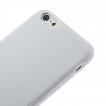 Антискользящий TPU чехол EGGO для iPhone 6 Plus/6S Plus - White - ITMag