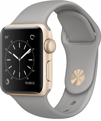Apple Watch Series 2 38mm Gold Aluminum Case with Concrete Sport Band (MNP22) - ITMag