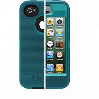 Чехол OtterBox Defender Series Case and Holster for iPhone 4/4S - Teal/Blue - ITMag