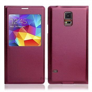 Чехол S View Cover Samsung Galaxy S5 G900H (vine red) - ITMag