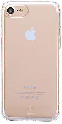 Чехол Baseus Simple  Series Case For iPhone7 (Anti-Shock) Transparent (ARAPIPH7-JZ02) - ITMag