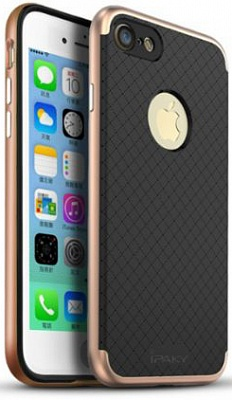 "Чехол iPaky TPU+PC для Apple iPhone 7 (4.7"") (Черный / Rose Gold) - ITMag"