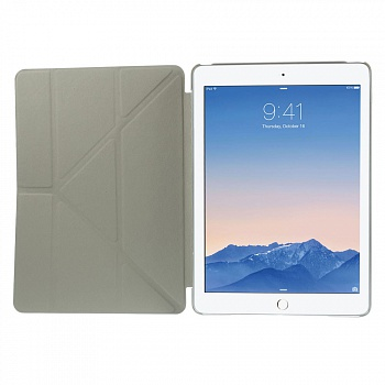 Чехол EGGO для iPad Air 2 Cross Texture Origami Stand Folio - Grey - ITMag