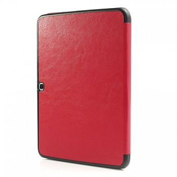 Чехол Crazy Horse Tri-fold Leather Folio Cover Stand Red for Samsung Galaxy Tab 3 10.1 P5200/P5210 - ITMag