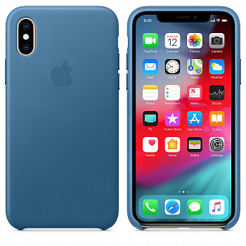 Apple iPhone XS Max Leather Case - Cape Cod Blue (MTEW2) - ITMag