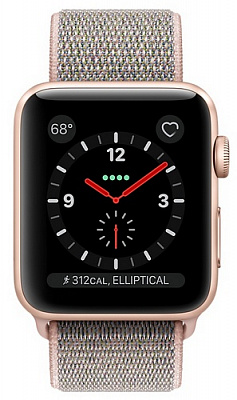 Apple Watch Series 3 GPS + Cellular 38mm Gold Aluminum w. Pink Sand Sport L. (MQJU2) - ITMag