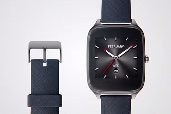ASUS ZenWatch 2 WI501Q (Dark Blue Gun/Leather) - ITMag