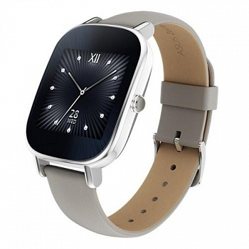 ASUS ZenWatch 2 Stainless Steel WI502Q - (Silver/Khaki Leather) - ITMag