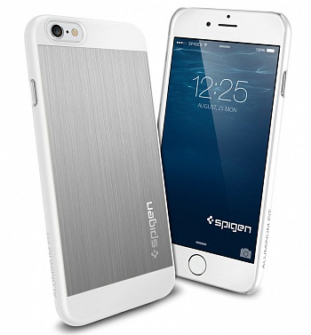 "Чехол SGP Case Aluminum Fit Series Satin Silver for iPhone 6/6S 4.7"" (SGP10947) - ITMag"