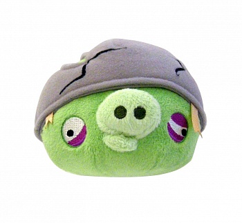 "Angry Birds 5"" Plush Helmet Pig Plush Toy - ITMag"