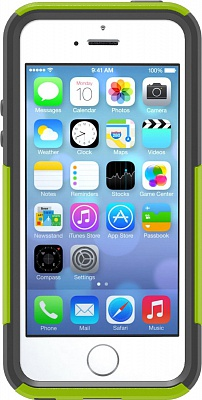 Чехол OtterBox [Commuter Series] Apple iPhone 5S Case - Key Lime (Glow Green/Slate Grey) - ITMag