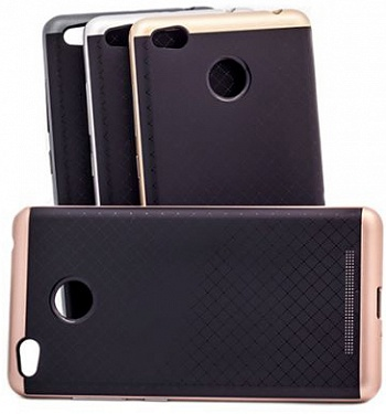 Чехол iPaky TPU+PC для Xiaomi Redmi 3 Pro / Redmi 3s (Черный / Rose Gold) - ITMag