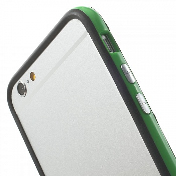 TPU бампер EGGO для iPhone 6/6S - Black / Green - ITMag