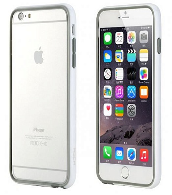"Бампер ROCK Duplex Slim Guard для Apple iPhone 6 Plus/6S Plus (5.5"") (Белый / White) - ITMag"