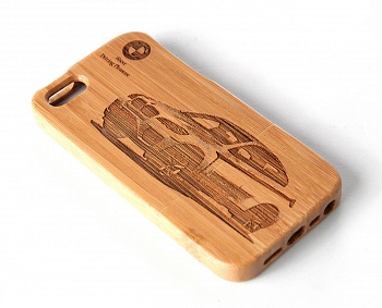 Чехол JUSNEY Bamboo Case для iPhone 5/5S BMW - ITMag