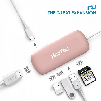 USB Hub HooToo Shuttle Rose Gold (HT-UC001-RG) - ITMag
