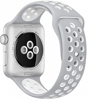 Apple Watch Nike+ 38mm Silver Aluminum Case with Silver/White Nike Sport Band (MNNQ2) - ITMag
