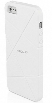 Чехол Macally FLEXFITW-P5 для iPhone 5/5S/SE (Белый) - ITMag