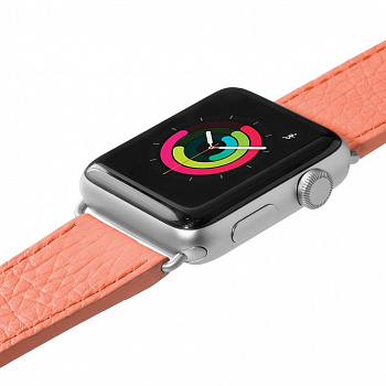 Кожаный ремешок для Apple Watch 42/44 mm LAUT MILANO Coral (LAUT_AWL_ML_P) - ITMag