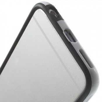TPU бампер EGGO для iPhone 6/6S - Black / White - ITMag
