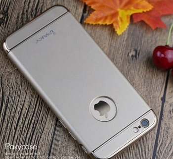Чехол 3in1 iPaky 360 PC Whole Round для iPhone 6 / 6s (Silver | With Back Hole+ стекло) - ITMag