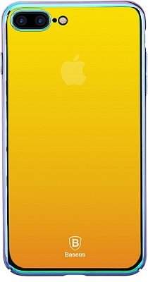 Чехол Baseus Glass Case For iPhone 7 Plus Stream gold (WIAPIPH7-GZ0V) - ITMag