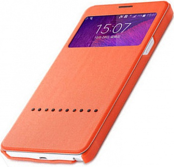 Чехол (книжка) Rock Rapid Series для Samsung N910S Galaxy Note 4 (Оранжевый / Orange) - ITMag