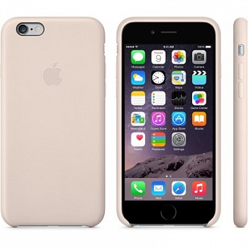 Apple iPhone 6 Leather Case - Soft Pink MGR52 - ITMag