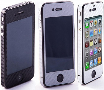 Наклейка защитная EGGO iPhone 4/4S Carbon Fiber White FullBody - ITMag
