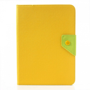 Чехол EGGO двухцветный Leather Stand Case for Samsung Galaxy Tab 3 10.1 P5200/P5210 (Green / Yellow) - ITMag