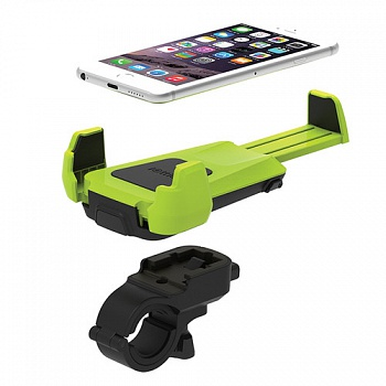 iOttie Active Edge Bike & Bar Mount for iPhone 6 (4.7)/ 5s/ 5c/4s,Galaxy S6/S6 Edge/S5 Electric Lime (HLBKIO102GN) - ITMag