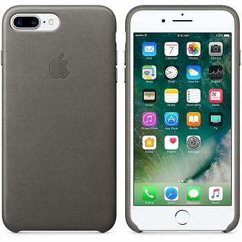 Apple iPhone 7 Plus Leather Case - Storm Gray MMYE2 - ITMag