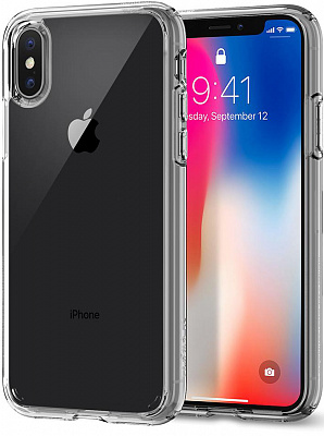 Spigen Case Ultra Hybrid for iPhone X Crystal Clear (057CS22127) - ITMag