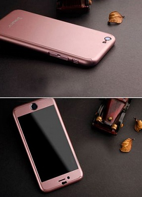 "Чехол iPaky 360 градусов для Apple iPhone 6/6s (4.7"") (+ стекло на экран) (Rose Gold) - ITMag"