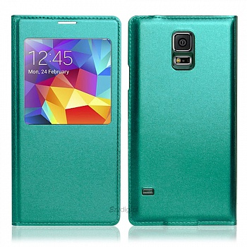 Чехол S View Cover Samsung Galaxy S5 G900H (light green) - ITMag