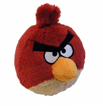 "Angry Birds 8"" Plush Red Bird with Sound - ITMag"