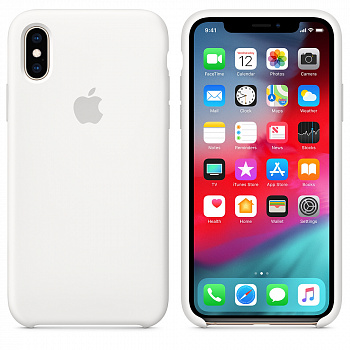 Apple iPhone XS Silicone Case - White (MRW82) - ITMag
